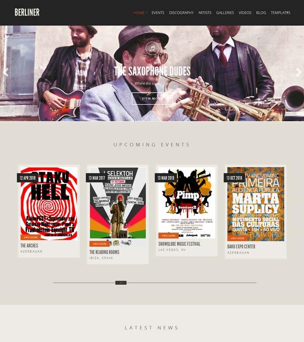 Download Berliner Music WordPress Theme