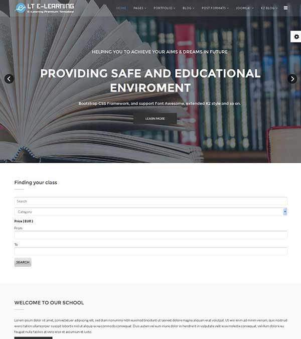 Download LT eLearning School Joomla template