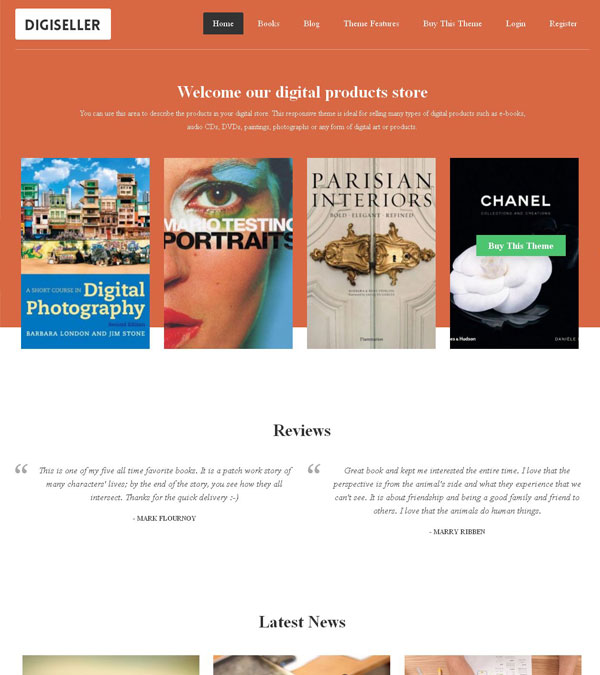 Digiseller Digital Downloads Theme