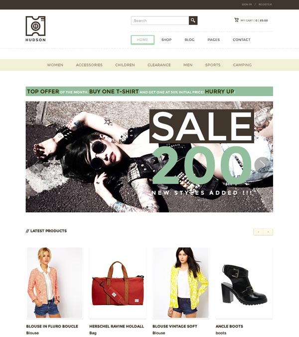 Download Hudson WordPress eCommerce Theme