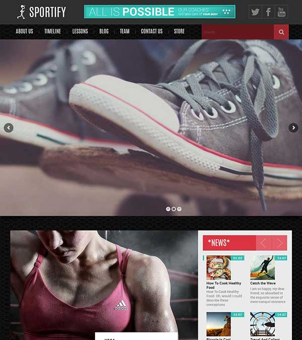 Sportify Gym Fitness WordPress Theme