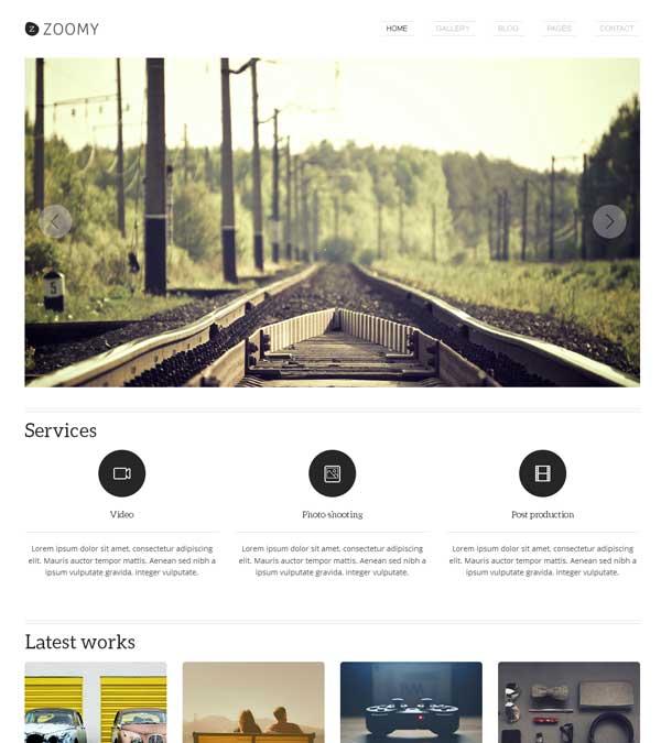 Zoomy Photography WordPress Theme