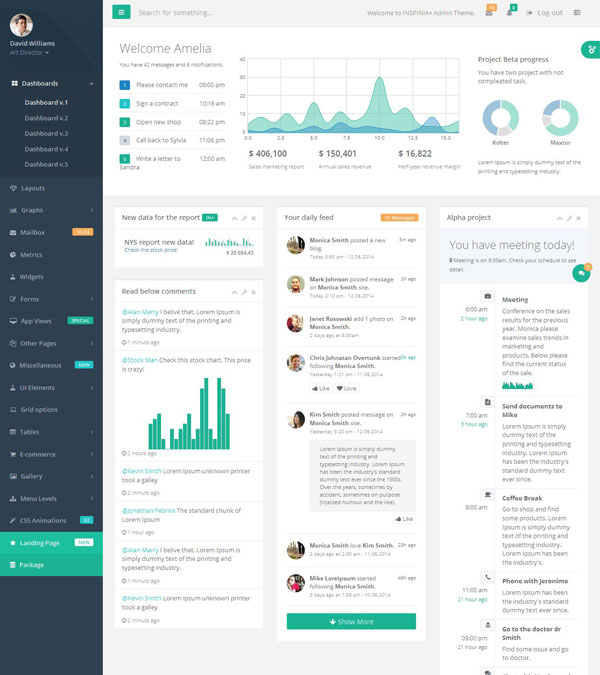 Inspinia – Admin Bootstrap Template