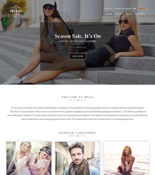 Hugo Theme eCommerce WordPress
