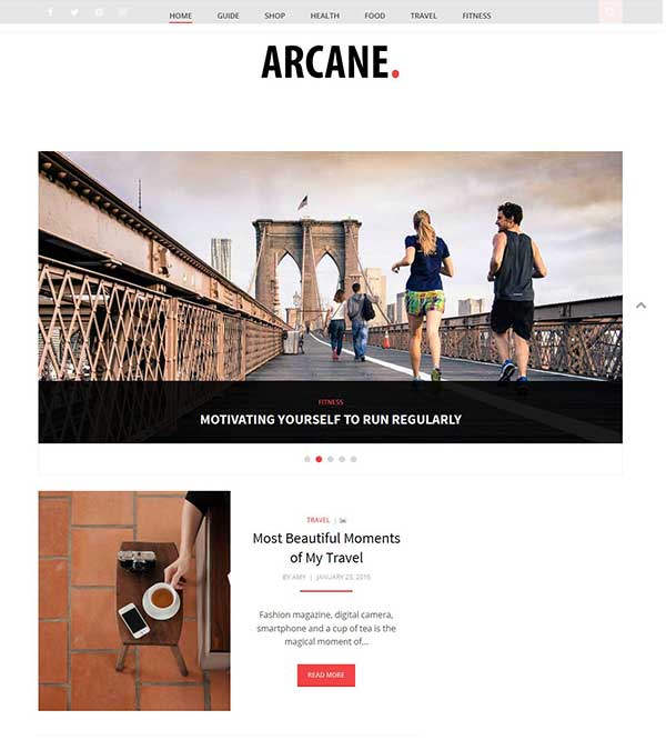 Download Arcane Theme Magazine WordPress