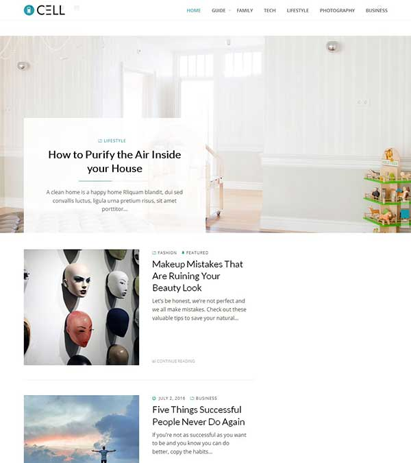 Cell Theme Magazine WordPress