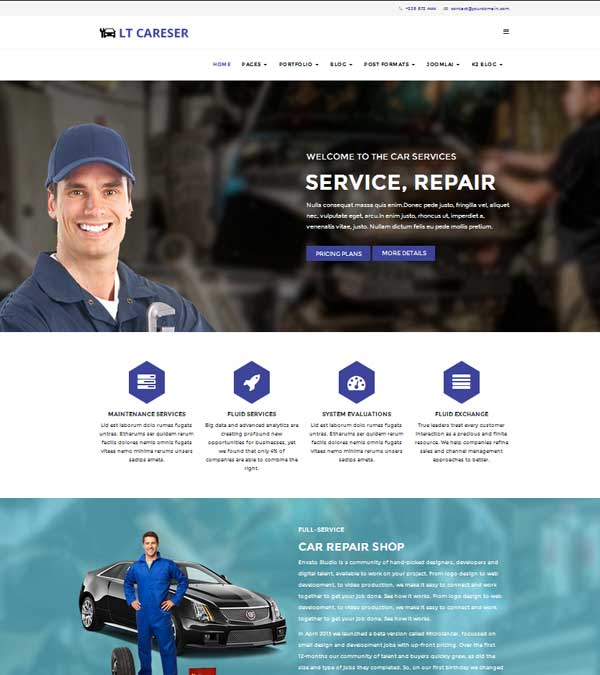 LT Careser Car Repair Services Joomla
