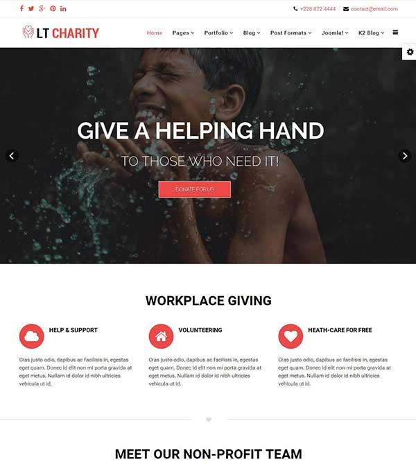 LT Charity Non-Profit Joomla