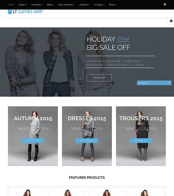 LT Clothes Shop Joomla Template