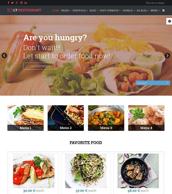 Download LT Restaurant Joomla Template