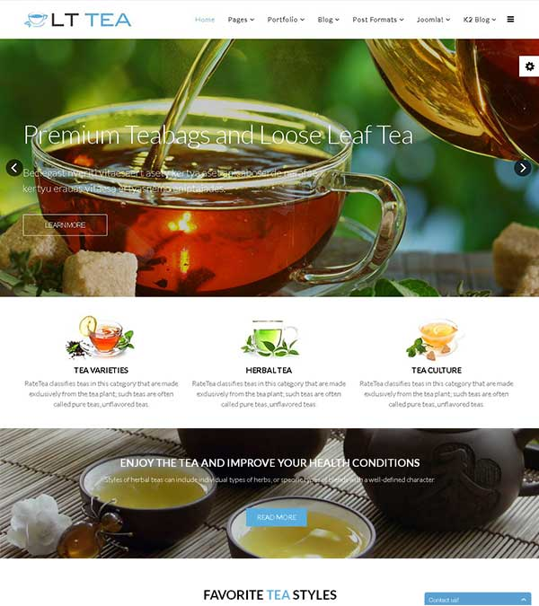 Download LT Tea Store Joomla Template