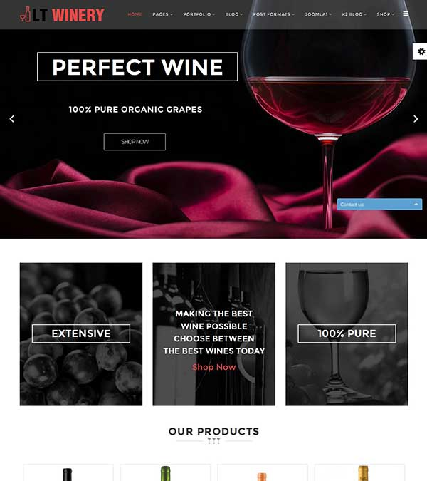LT Winery Wine Store Joomla Template