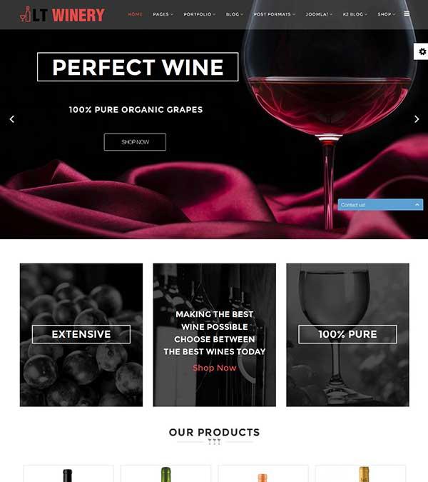 LT Winery Wine Store Joomla Template