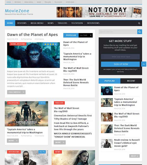 Download NewsOnline News Magazine Theme