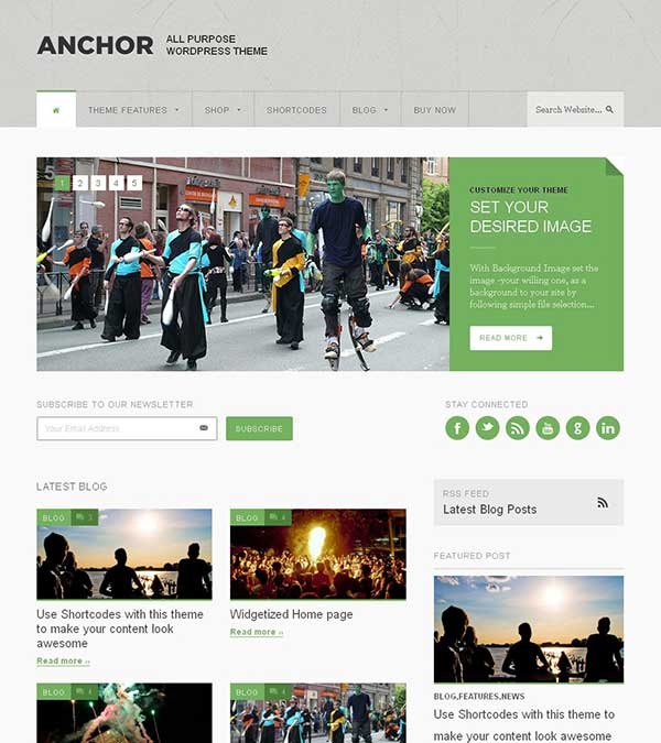 Anchor Magazine WordPress Theme