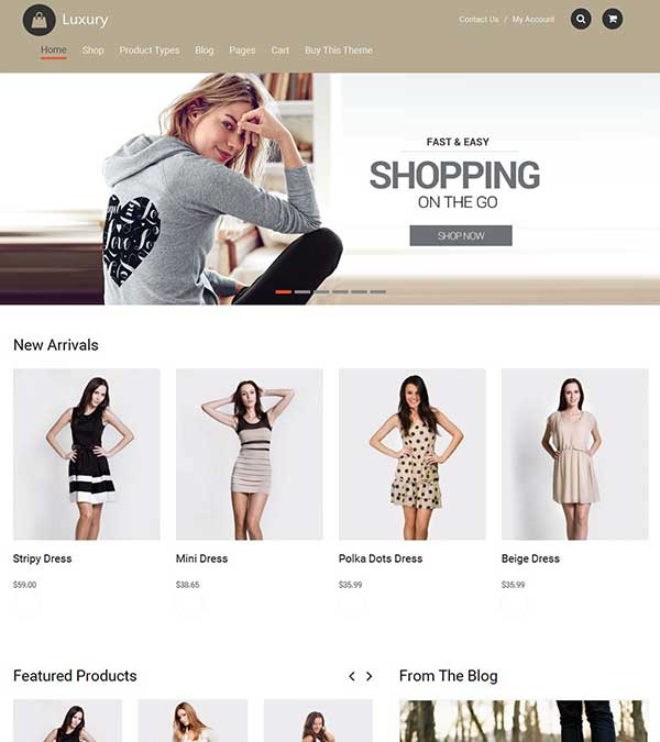 Download Luxury eCommerce WordPress Theme