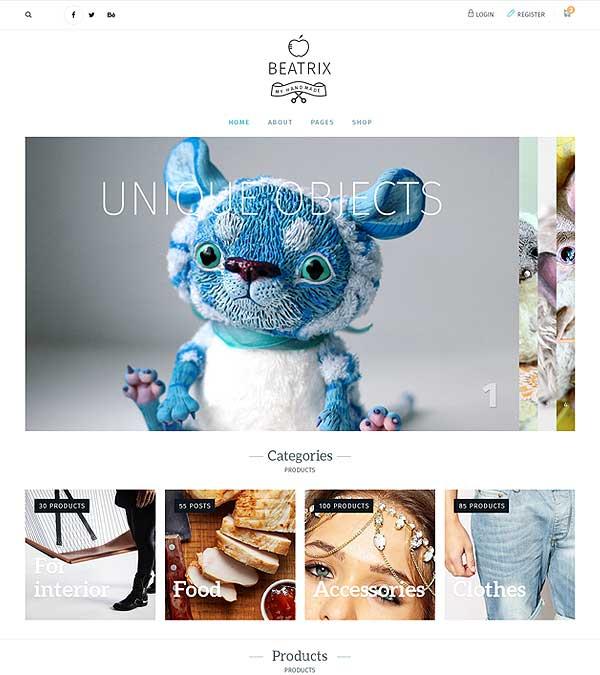 Download Beatrix Handmade Shop WordPress Theme