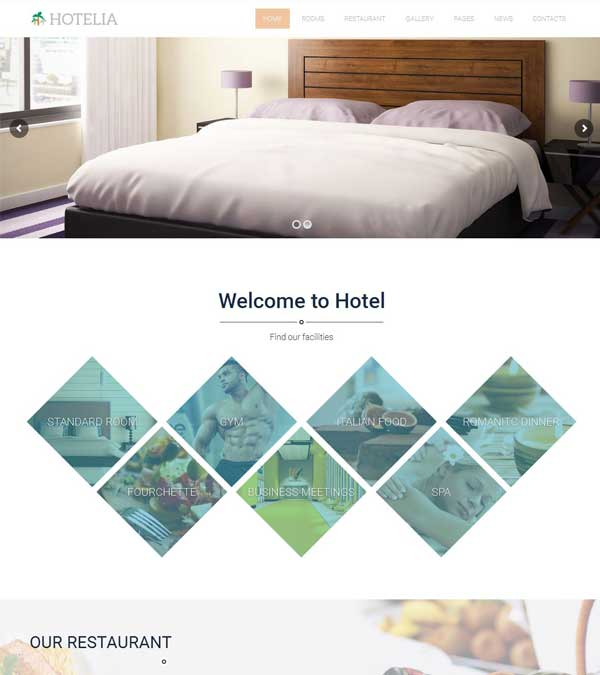 Hotelia Hotel Booking WordPress