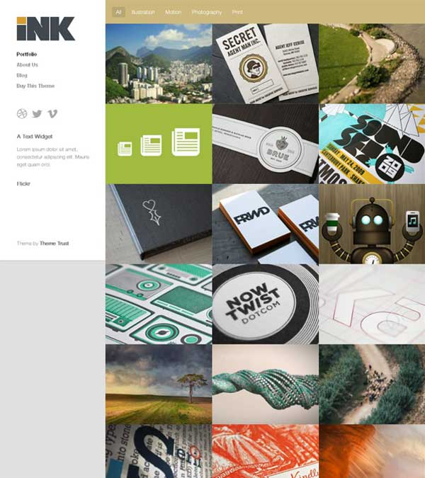 Ink Theme Portfolio WordPress
