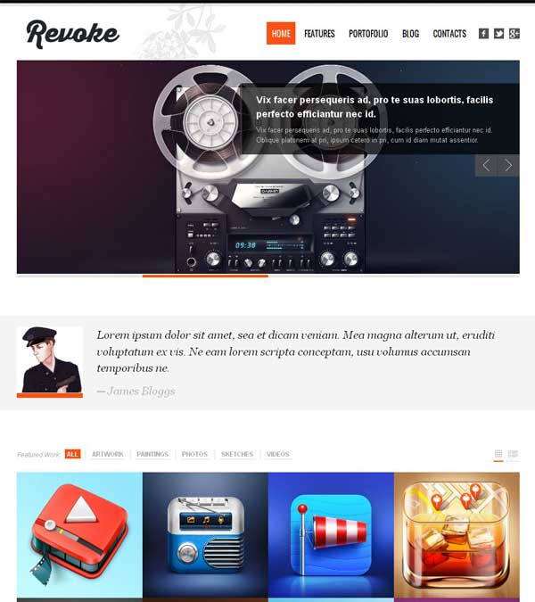 Download Revoke Portfolio WordPress Theme