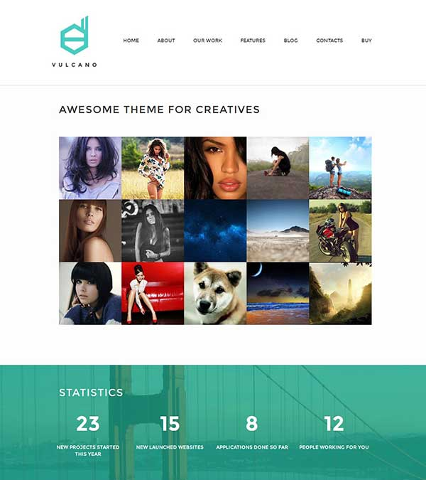 Vulcano Theme Creative WordPress