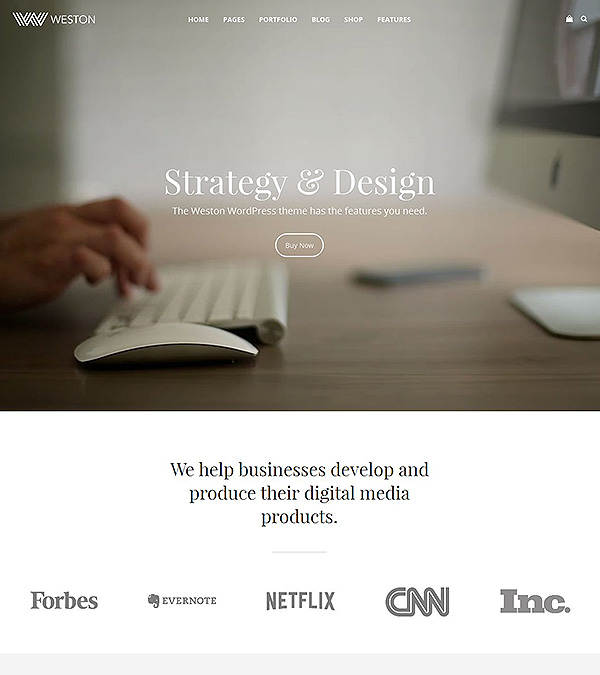 Weston Responsive WordPress Theme