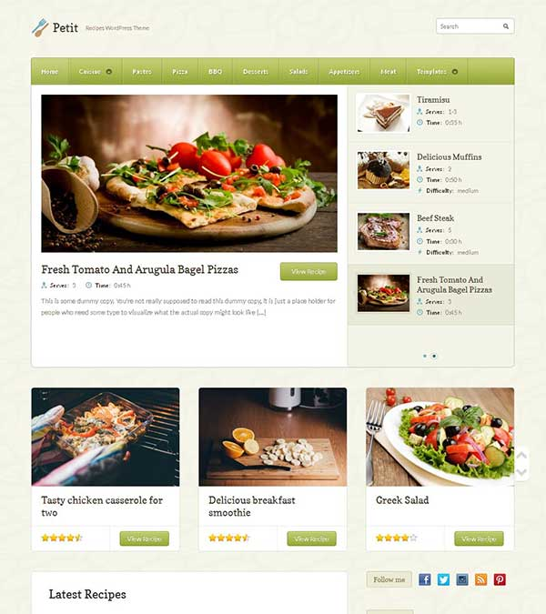 Petit Food Recipe Restaurant Theme