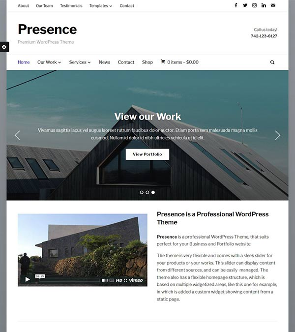 Presence Multipurpose WordPress Theme