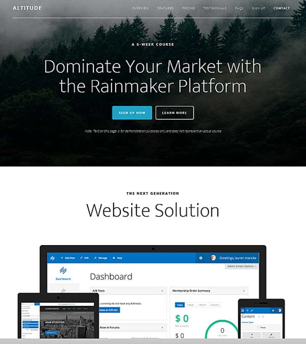 Altitude Pro Genesis WordPress Theme
