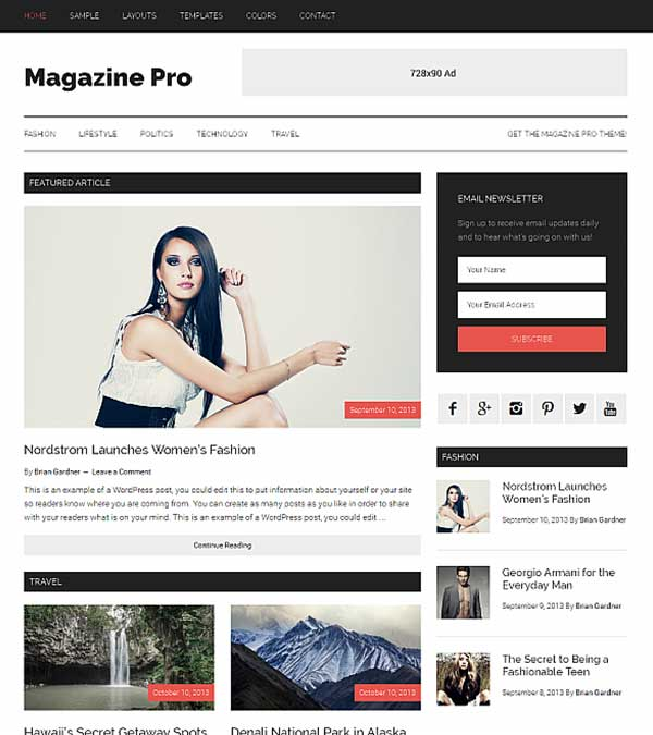 Magazine Pro Genesis WordPress Theme