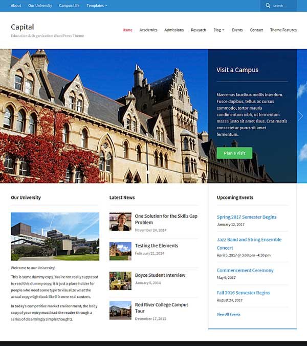Capital Corporate WordPress Theme