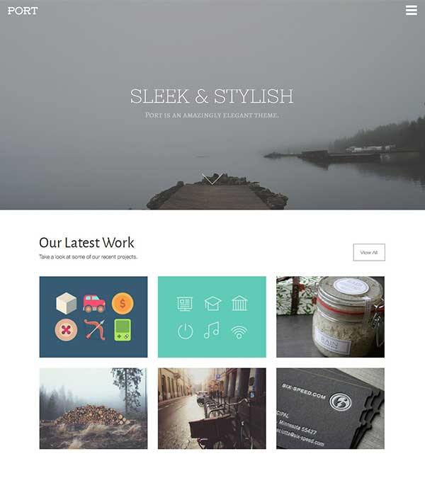 Download Port Stylish Agency WP Theme