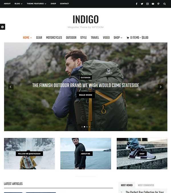 Indigo Magazine WordPress Theme