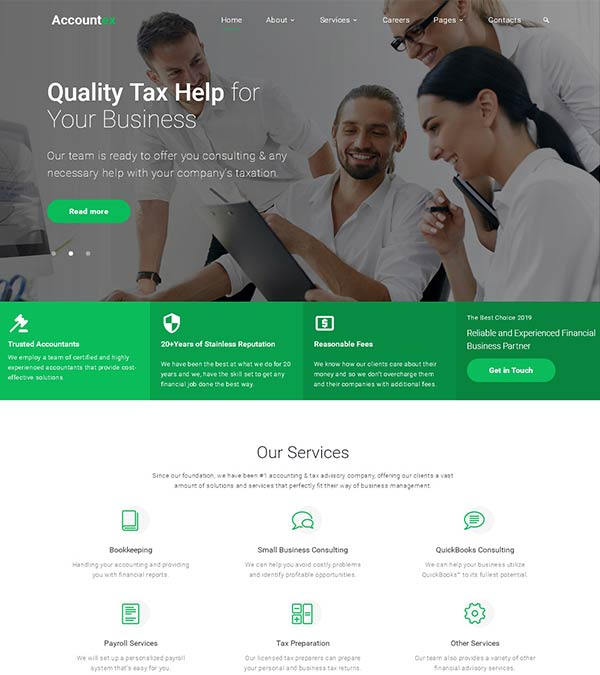 Accountex Accounting Website Template