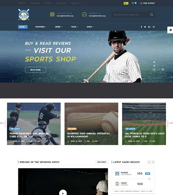 Allstar Sports Multipurpose Template