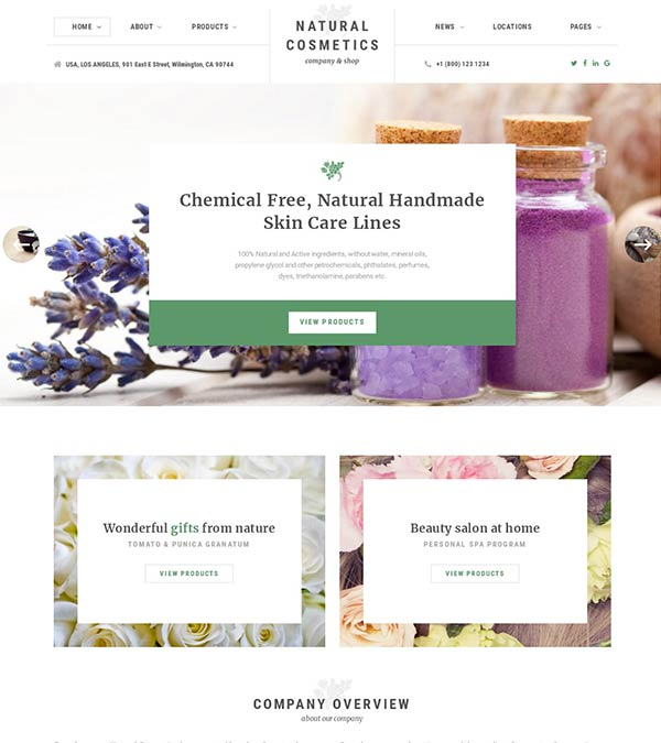 Natural Cosmetics Store Web Template