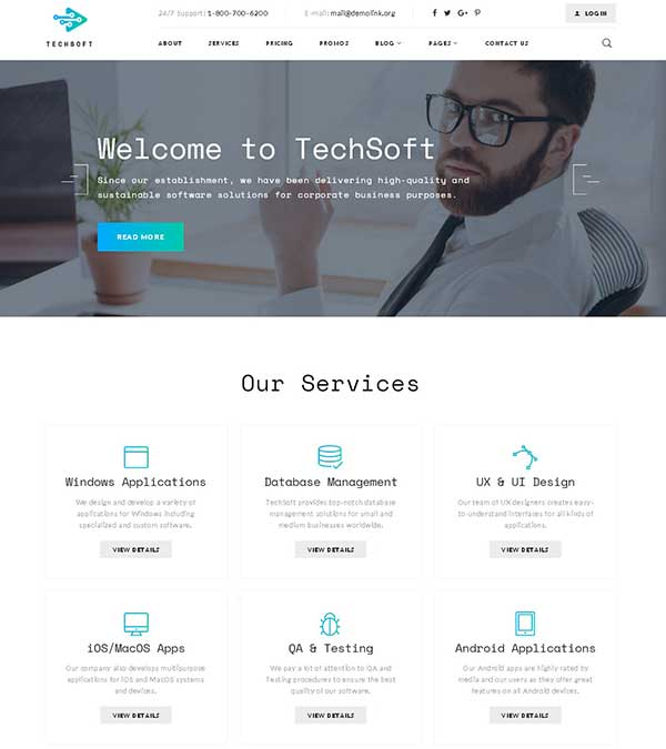 TechSoft Business Website Template
