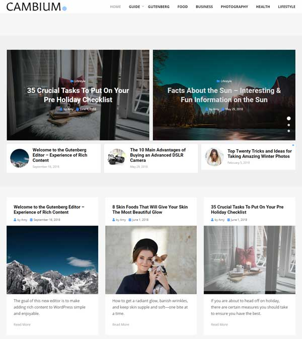 Download Cambium News Magazine Blog Theme