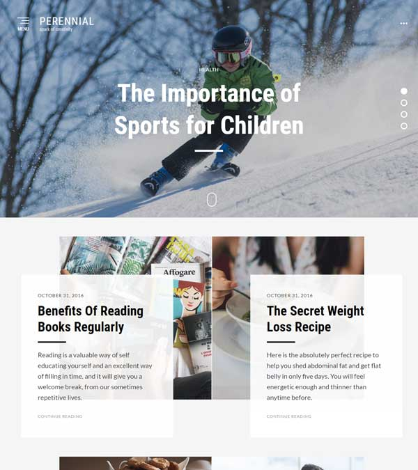 Perennial Magazine Blog Theme