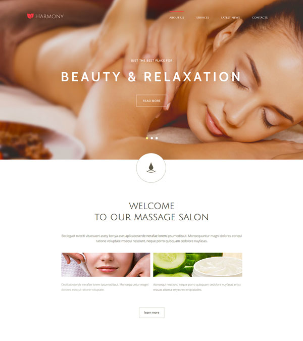 Harmony Spa Massage Joomla Template