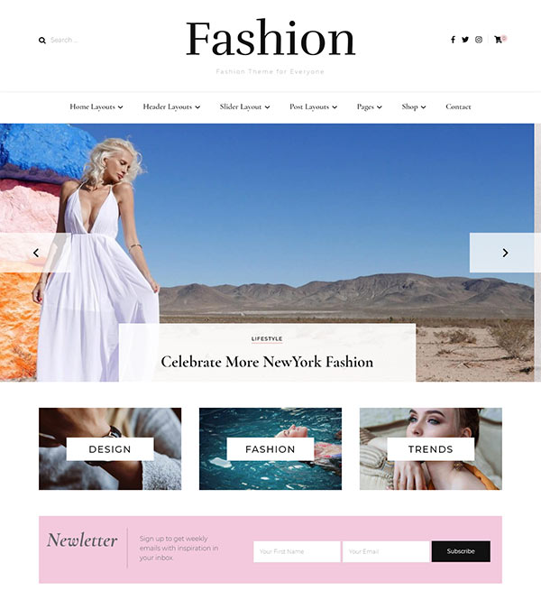 Blossom Fashion Pro Blog WP Theme