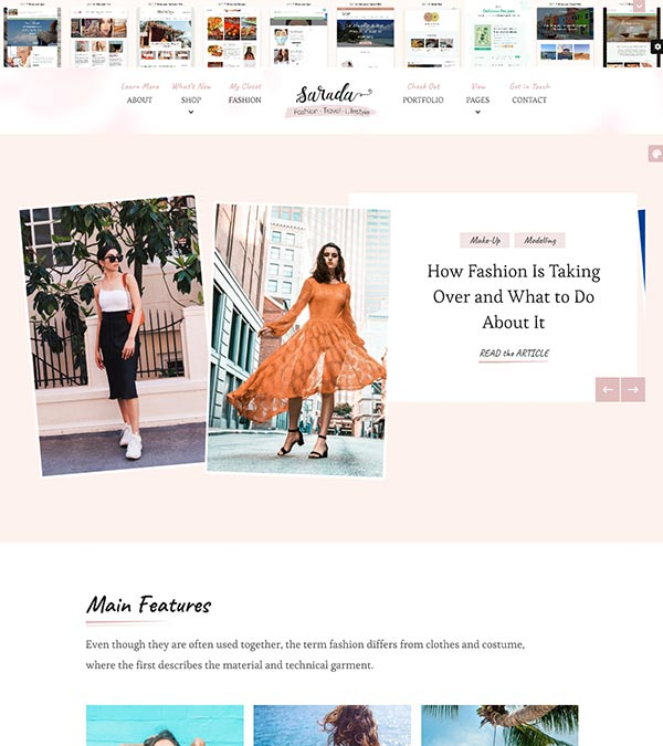 Sarada Fashion Lifestyle Blog WP Theme
