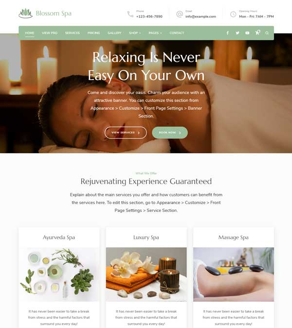 Blossom Spa Pro Massage WP Theme