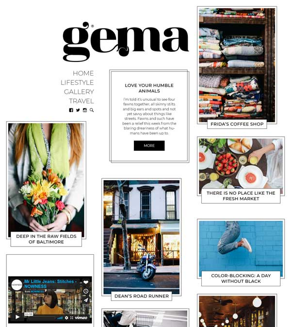 Gema Personal Blog WordPress Theme