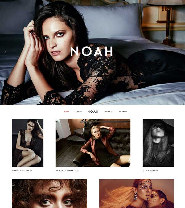 Noah Photography Portfolio WP Theme