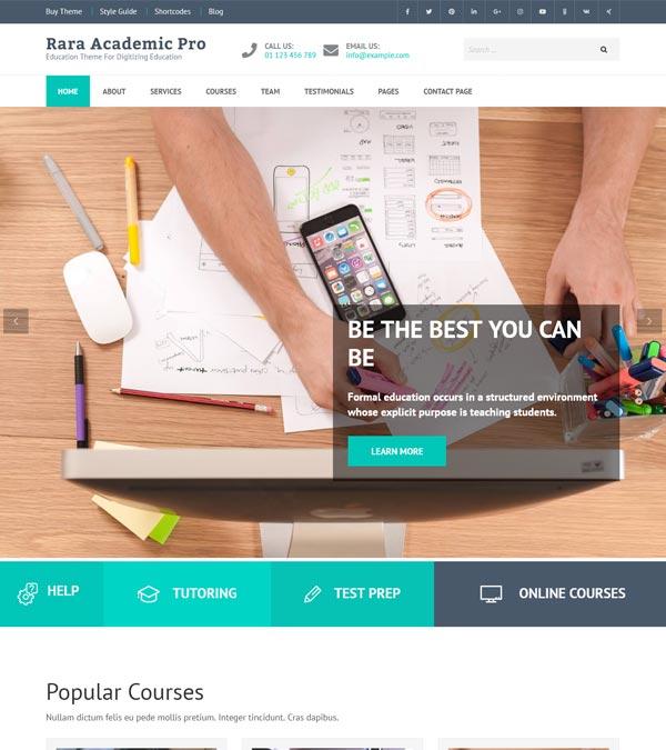 Download Rara Academic Pro WordPress Theme