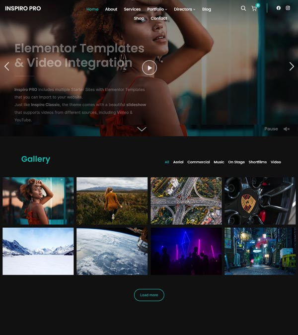 Inspiro Pro Elementor Portfolio Theme