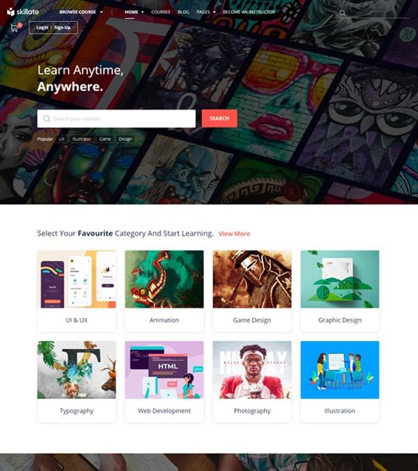 Skillate eLearning WordPress LMS Theme